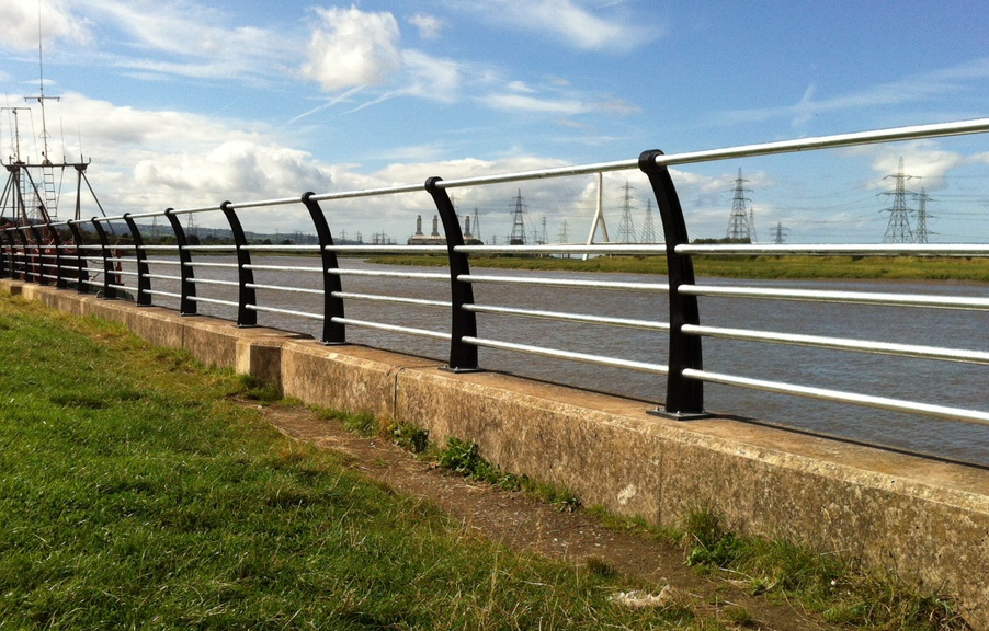 steel post and rail fencing